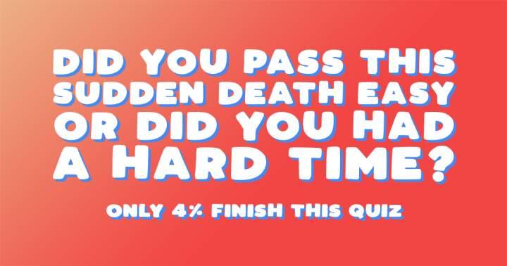 Hard Sudden Death