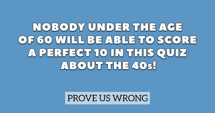 Are you older than 60?