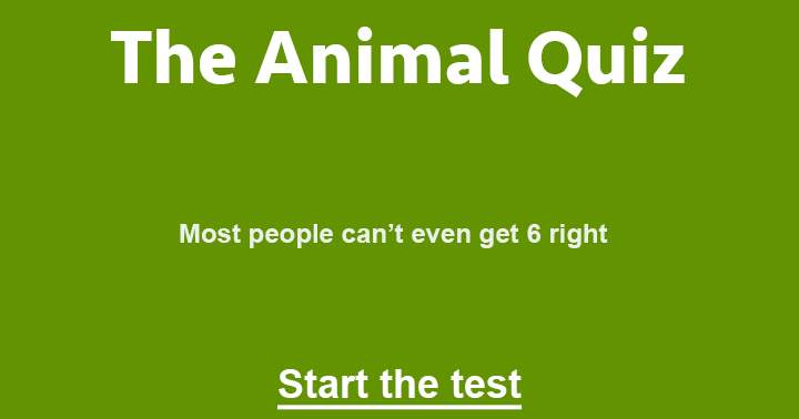 Hard Animal trivia Quiz