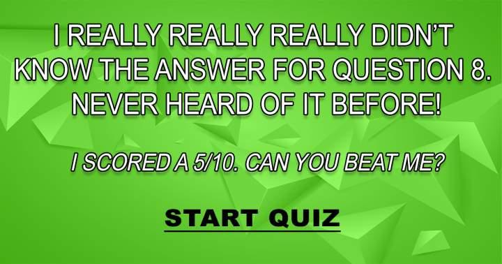 Challenging Knowledge Quiz