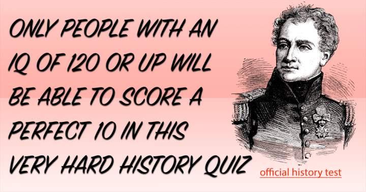 History Trivia Quiz