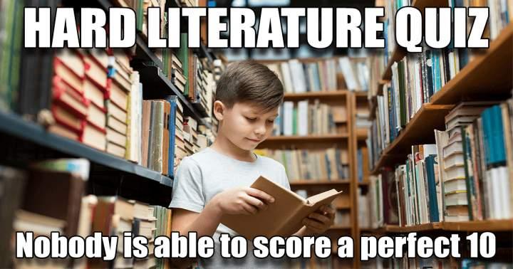 HARD Literature Quiz