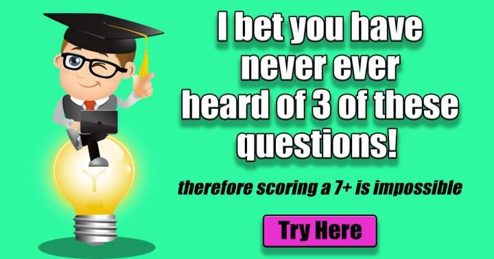 Mixed Trivia Questions
